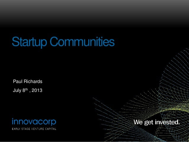 Building Startup Communities: Annapolis Valley