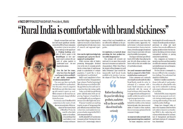 Rural india is comfortable with brand stickiness pradeep kashyap ceo_mart