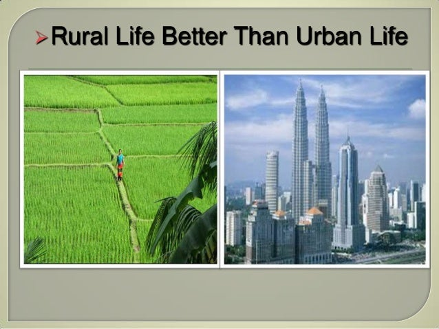 Urban and rural living essay