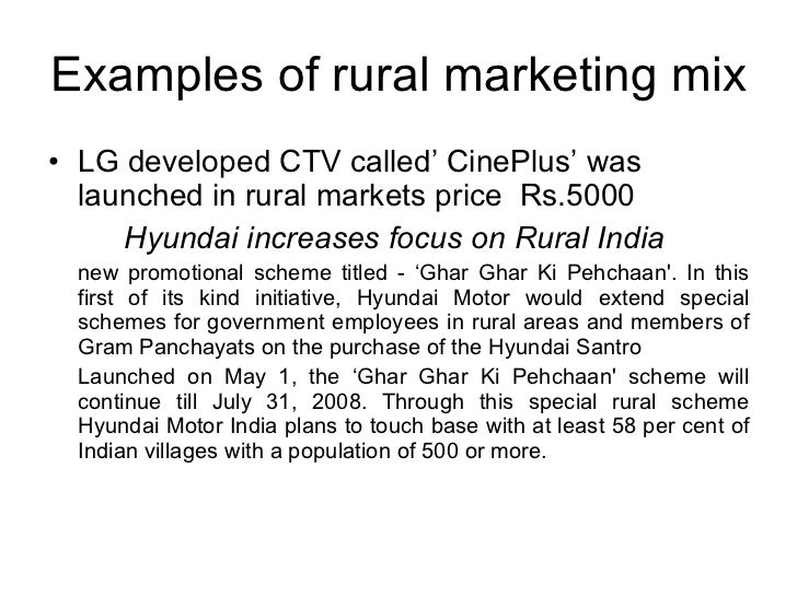 rural marketing mix live example of Rural marketing can be described as any marketing activity in which a what is stp in rural marketing update how is it used and what are some examples.