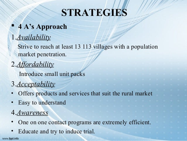 promotional strategy in rural market Rural promotions require different approach for market penetration in rural  segmentthis presentation deals with specific issues related to rural businessand .