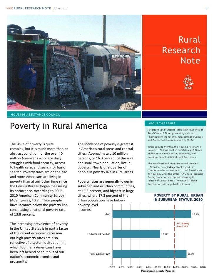 HAC RURAL RESEARCH NOTE | June 2012                                                                                       ...