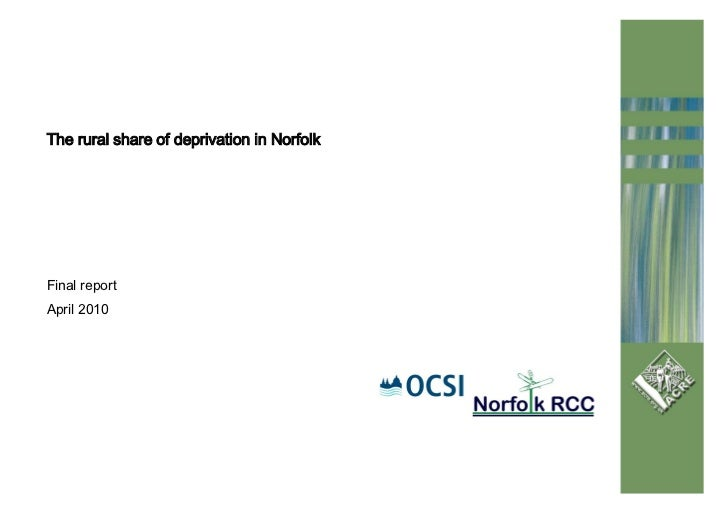 Rural Share of Deprivation in Norfolk