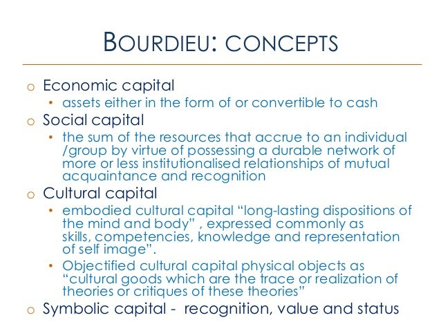 embodied cultural capital The article aims to illuminate this issue by applying the cultural capital theory to   in particular, it argues that using specific notions of embodied cultural capital.