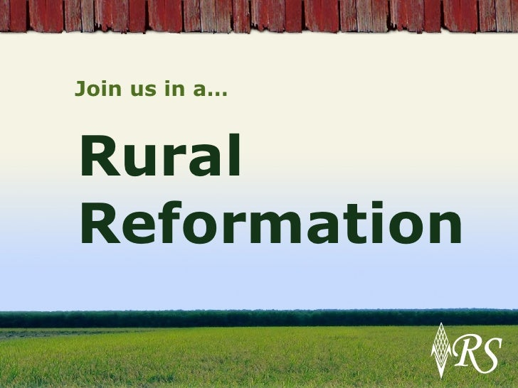 Rural Revolution Join us in a…