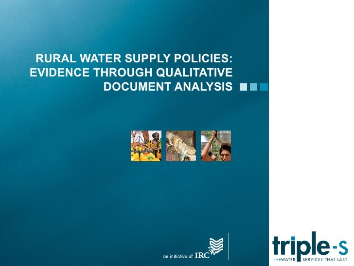 RURAL WATER SUPPLY POLICIES:EVIDENCE THROUGH QUALITATIVE          DOCUMENT ANALYSIS