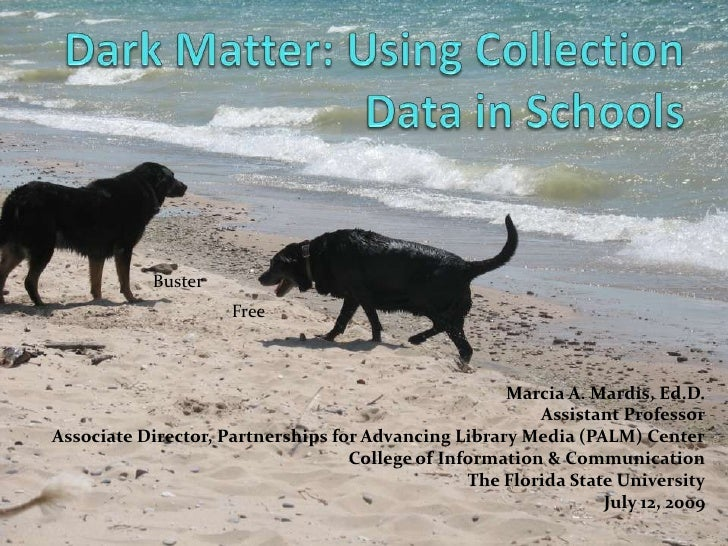 Dark Matter: Using Collection Data in Schools<br />Buster<br />Free<br />Marcia A. Mardis, Ed.D.<br />Assistant Professor<...