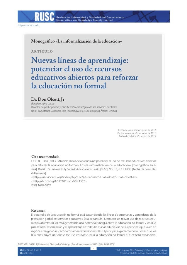 New Pathways to Learning:  Leveraging the Use of OERs to Support Nonformal Education