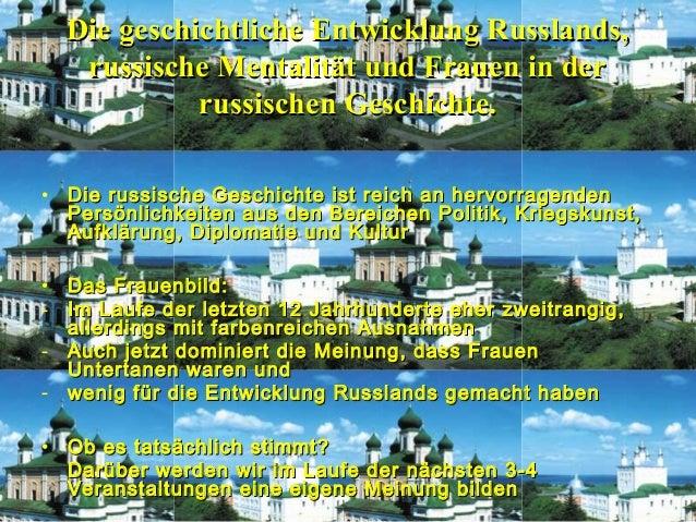 1Die geschichtliche Entwicklung Russlands,Die geschichtliche Entwicklung Russlands,russische Mentalität und Frauen in derr...