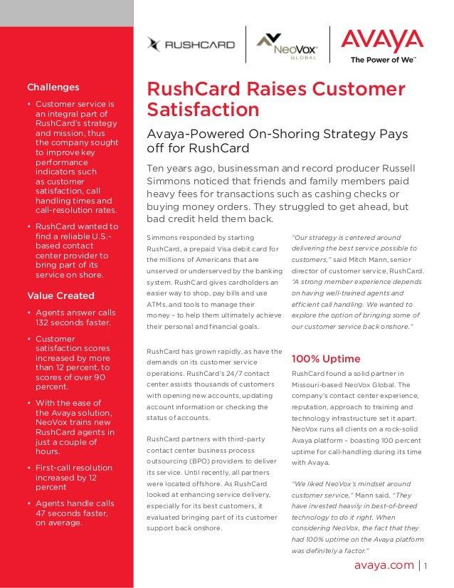 RushCard Raises Customer Satisfaction