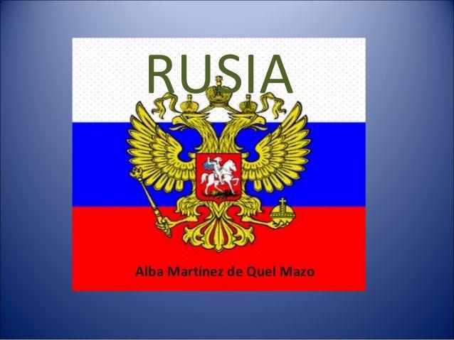 RUSIA  Alba Martínez de Quel Mazo