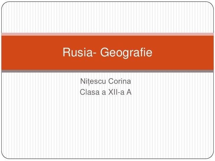 Rusia  Geografie