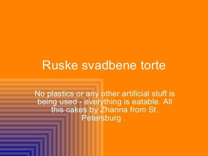 Ruske Svadbene Torte