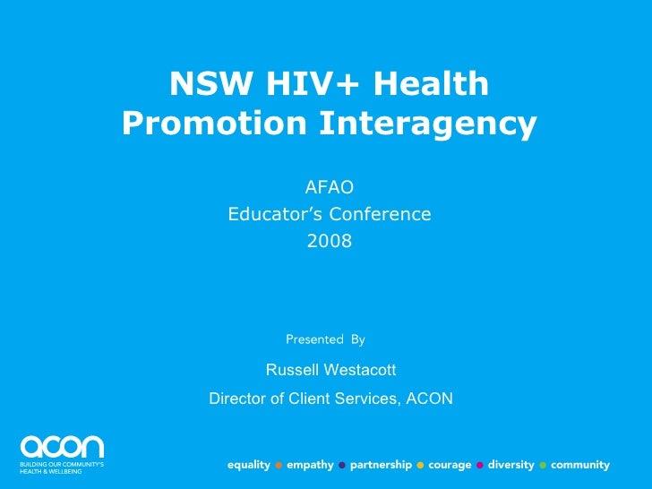 NSW HIV+ Health Promotion Interagency