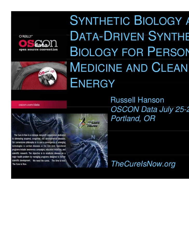 Synthetic Biology and Data-Driven Synthetic Biology for Personalized Medicine and Clean Energy at O\'Reilly\'s OSCON Data in Portland, OR