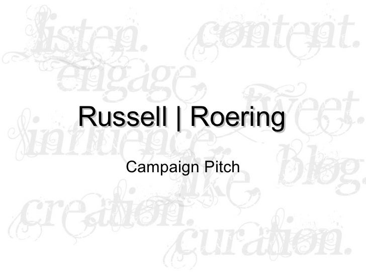 Russell Roering Speaking Pitch