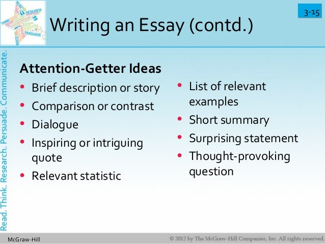 Compare/Contrast Essay Attention Getter?