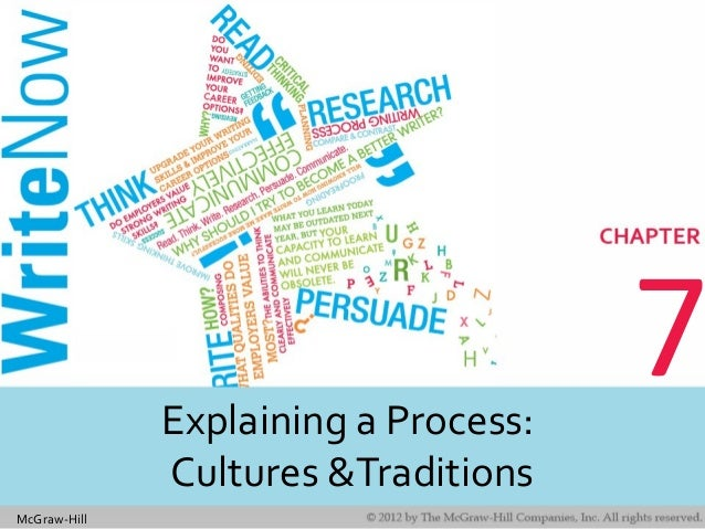 McGraw-Hill 7Explaining a Process: Cultures &Traditions