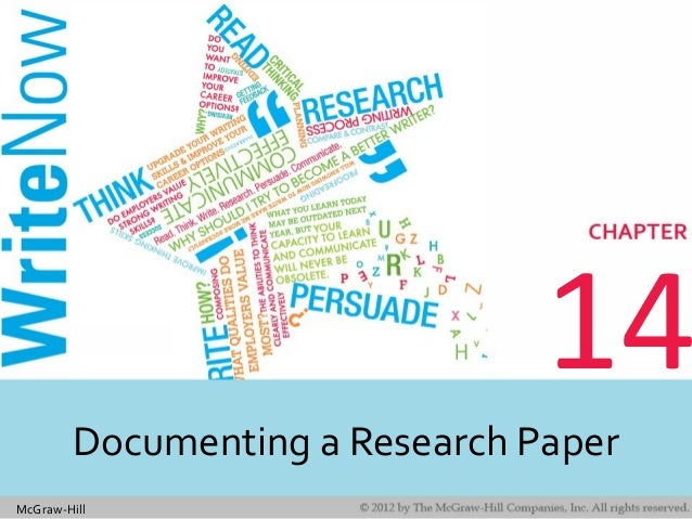 McGraw-Hill 14 Documenting a Research Paper