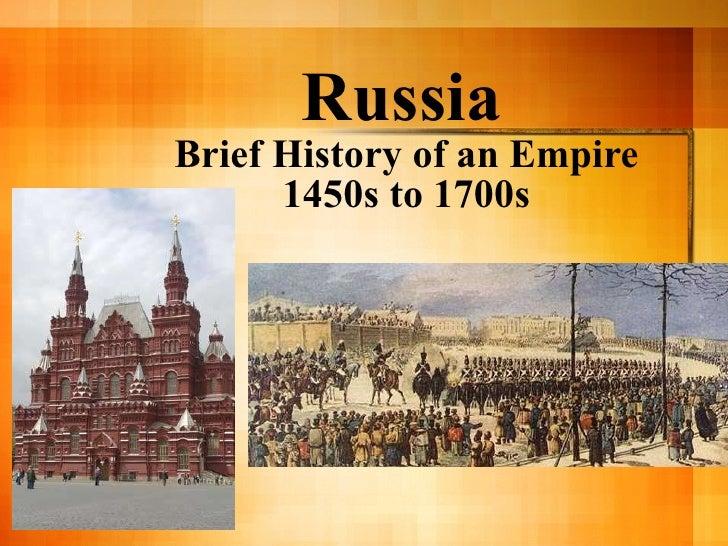 Russia  1450 1750
