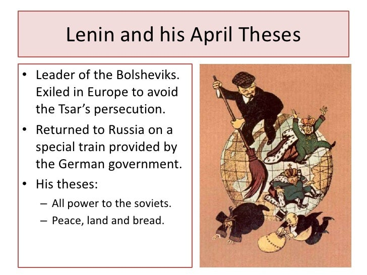 april theses By lars t lih the april theses represented bolshevik continuity rather than a break, argues lars t lih this is an edited version of a speech given to a london communist forum, published.