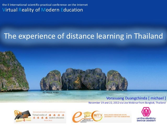 the II International scientific-practical conference on the InternetVirtual Reality of Modern Education The experience of ...