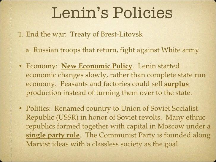 Lenins economic policy?
