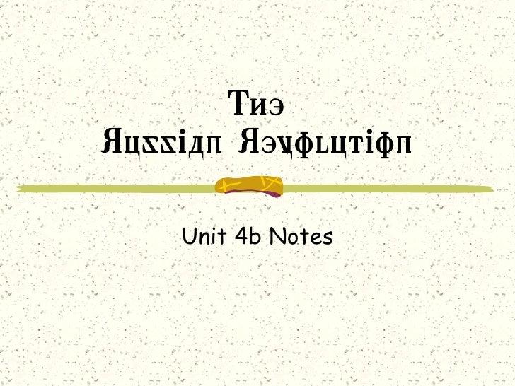 The Russian Revolution Unit 4b Notes