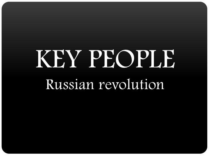 Russian revolution key people