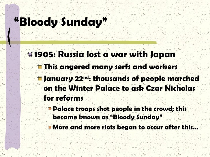 Was Bloody Sunday a cause of the 1905 Russian Revolution?