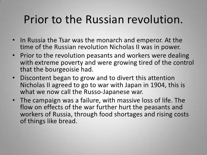 Prior to the Russian revolution.<br />In Russia the Tsar was the monarch and emperor. At the time of the Russian revolutio...