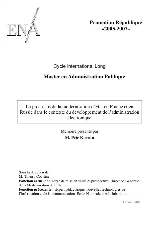 Promotion République                                                  «2005-2007»                      Cycle International...