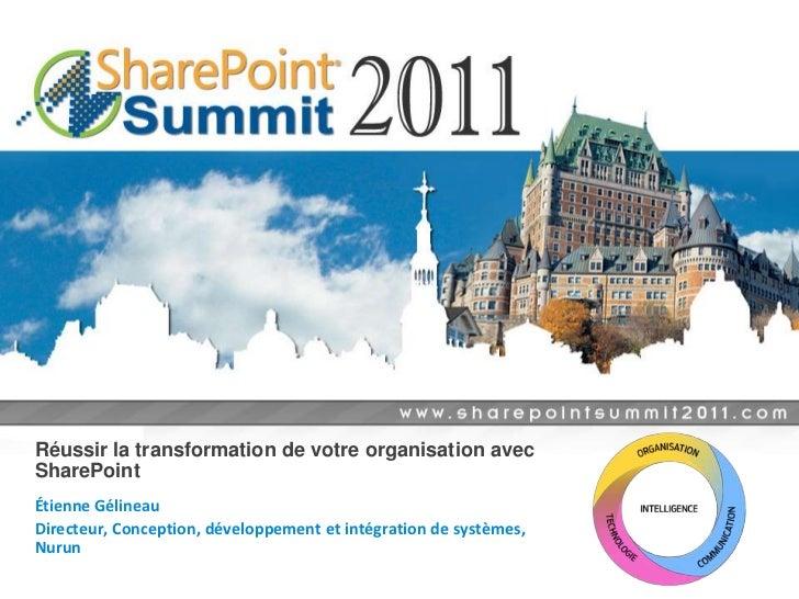 Réussir la transformation de votre organisation avec sharepoint