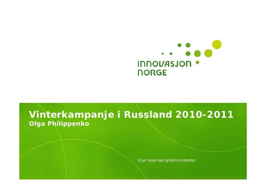 Vinterkampanje i Russland 2010-2011 Olga Philippenko