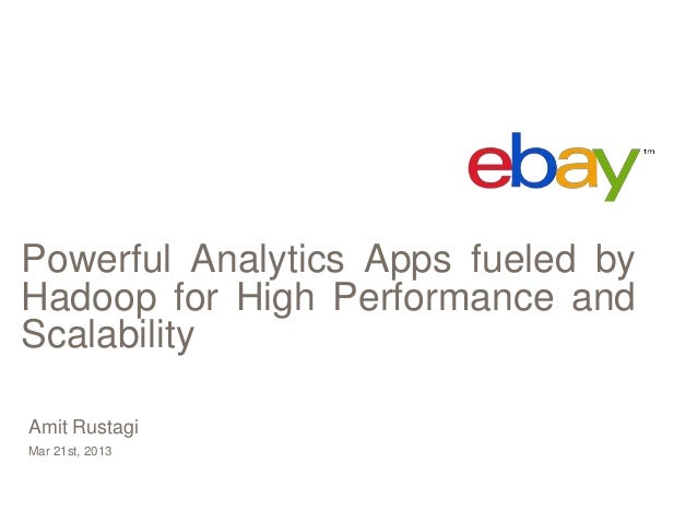 Powerful Analytics Apps fueled byHadoop for High Performance andScalabilityAmit RustagiMar 21st, 2013