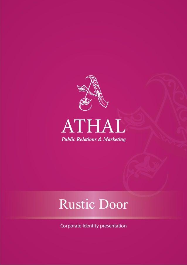 Public Relations & Marketing Rustic Door Corporate Identity presentation