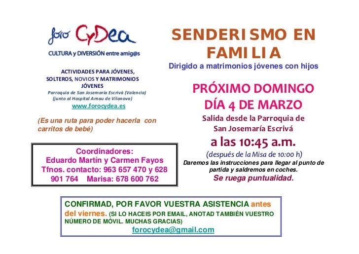 SENDERISMO EN FAMILIA A SAN VICENTE DE LLIRIA