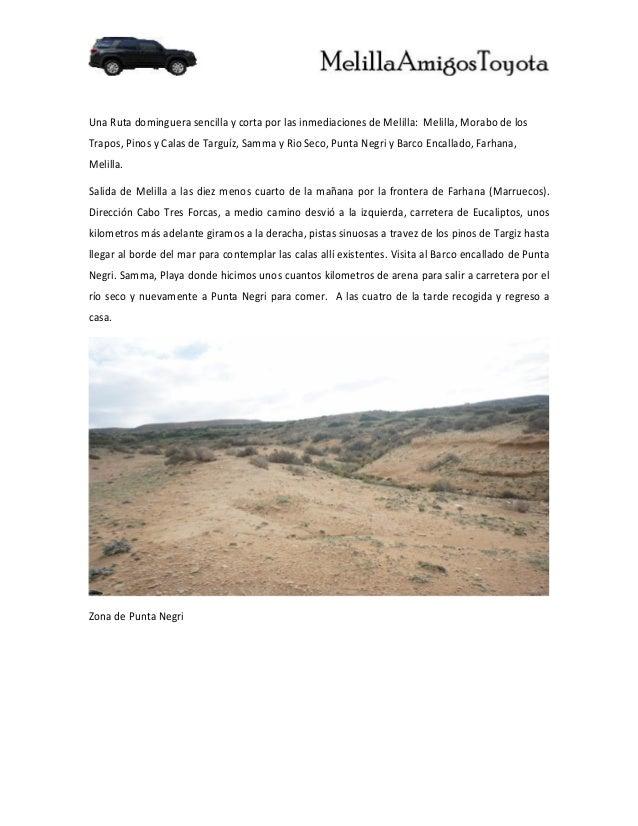 Una Ruta dominguera sencilla y corta por las inmediaciones de Melilla: Melilla, Morabo de losTrapos, Pinos y Calas de Targ...