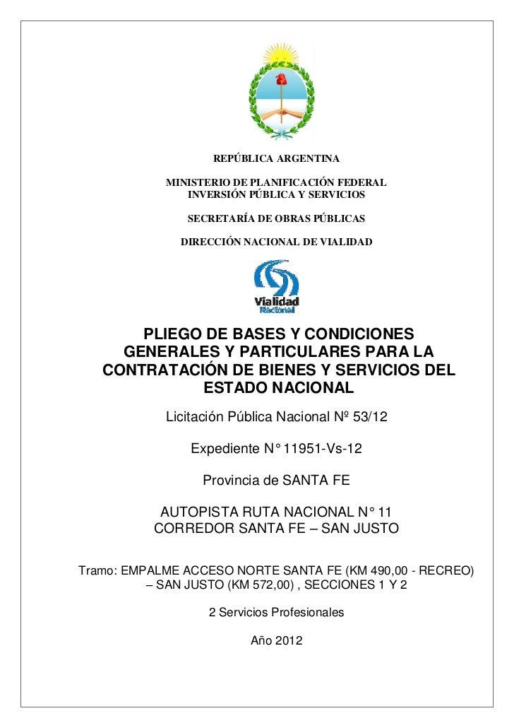 REPÚBLICA ARGENTINA            MINISTERIO DE PLANIFICACIÓN FEDERAL               INVERSIÓN PÚBLICA Y SERVICIOS            ...