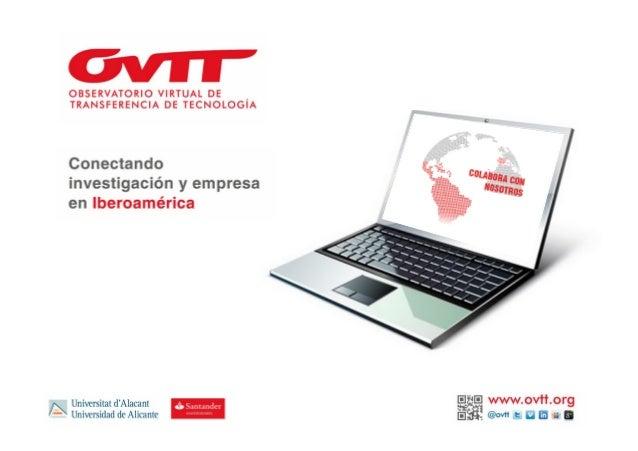 Presentación institucional del OVTT a Ruta N (Julio, 2013)