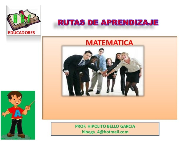 Rutas de aprendizaje matematica
