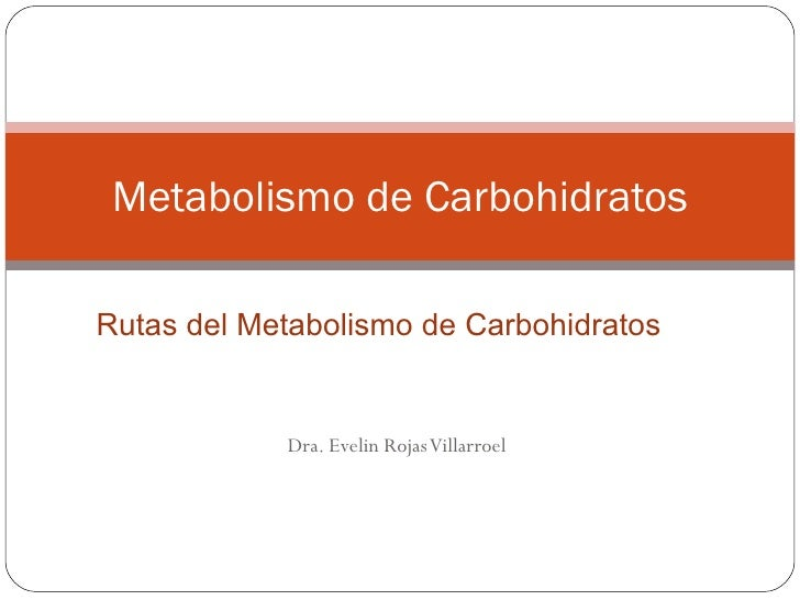 Rutas del metabolismo carbohidratos