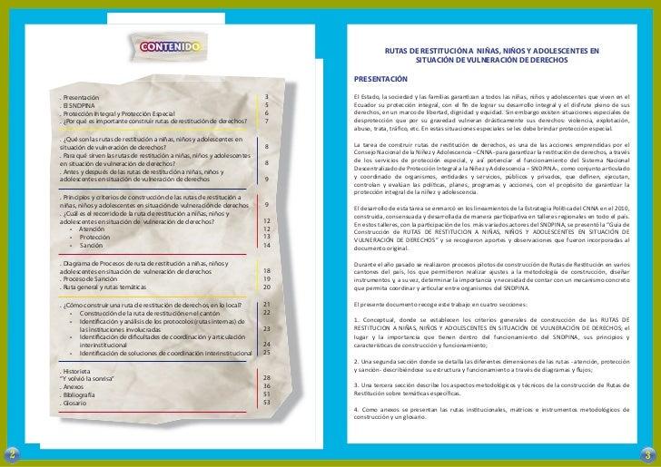 RUTAS DE RESTITUCIÓN A NIÑAS, NIÑOS Y ADOLESCENTES EN                                                                     ...