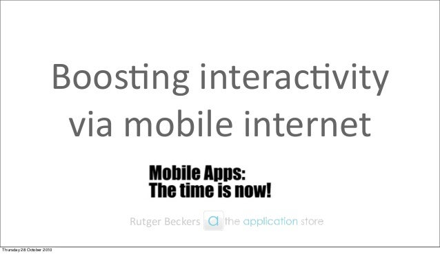 Rutger Beckers - The Application Store at Ring Ring
