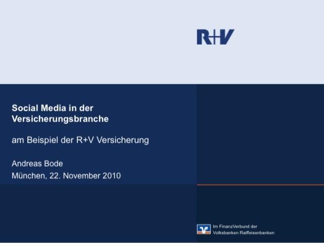 R+V Vortrag Social Media Cub München Nov 2010