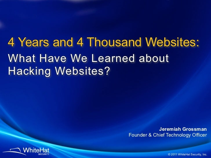 4 Years and 4 Thousand Websites Worth of Vulnerability Assessments: What Have We Learned?