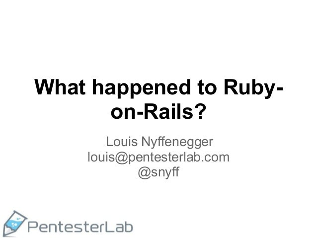 Ruxmon feb 2013   what happened to rails