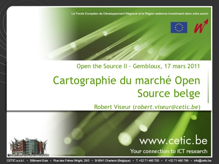 Open the Source 2: cartographie du marché Open Source belge