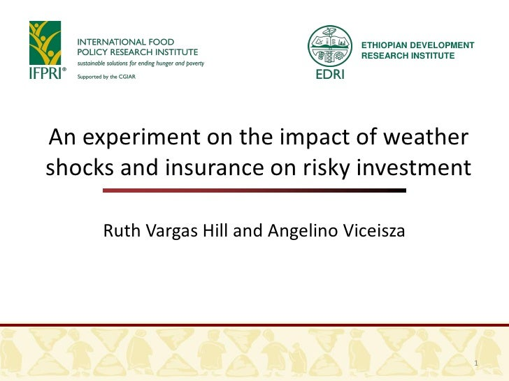 An experiment on the impact of weather shocks and insurance on risky investment