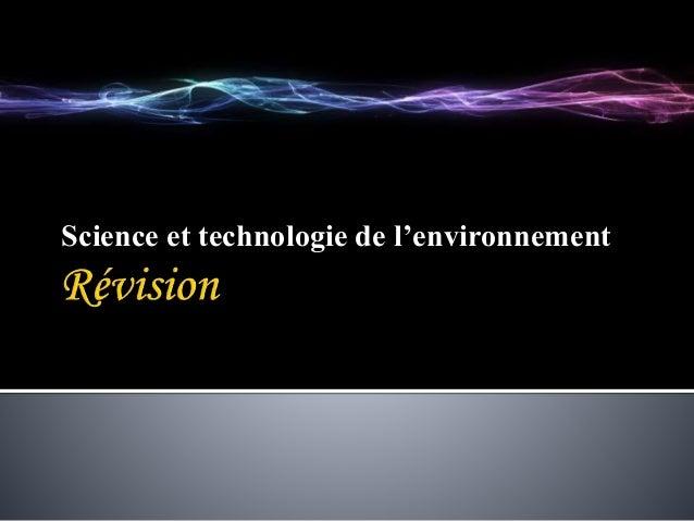Science et technologie de l'environnement